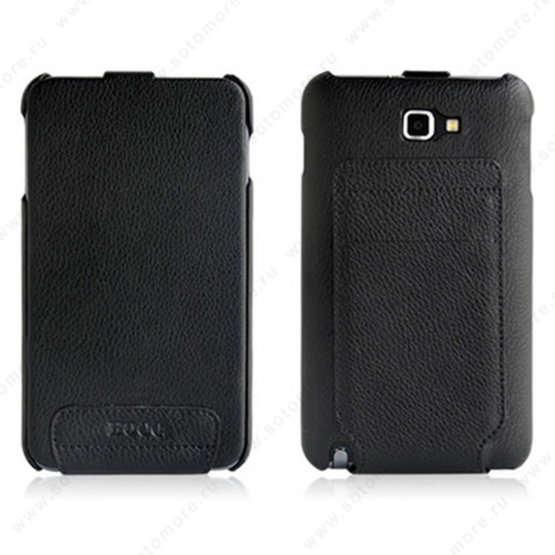 Чехол-флип HOCO для Samsung Galaxy Note N7000 - HOCO Leather Case Black