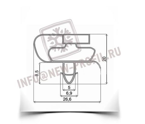 Уплотнитель для холодильника Vestfrost BKF 405 E58AL х.к. 900*570 (021/010 АНАЛОГ)