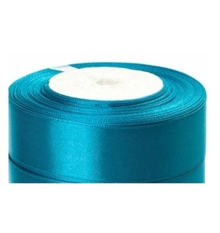 Лента атласная (размер:25мм х 25 ярдов) Цвет:бирюзово-синий