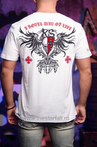 Футболка Rebel Spirit бело-красная