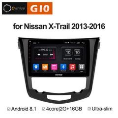 Штатная магнитола на Android 8.1 для Nissan X-trail 3 auto AC 13-16 Ownice G10 S1668E