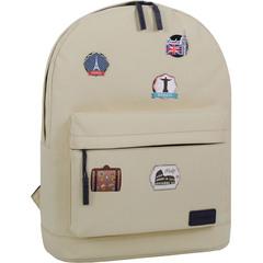 Рюкзак Bagland Молодежный W/R 17 л. 276 бежевый (00533662 Ш)