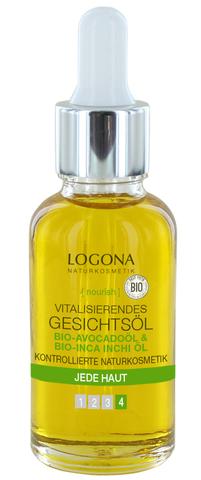 LOGONA Витализирующее масло для лица с Био-Авокадо и Био-Инка-Инчи