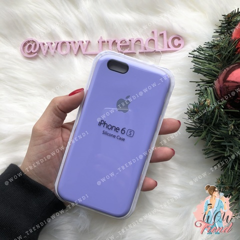 Чехол iPhone 6/6s Silicone Case /glycine/ гортензия 1:1