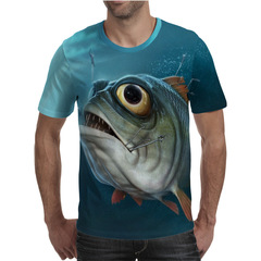 Футболка 3D принт, Рыба (3Д Fish) 26