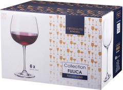 Набор из 6 бокалов для вина Crystalite Bohemia Fulica, 670 мл, фото 2