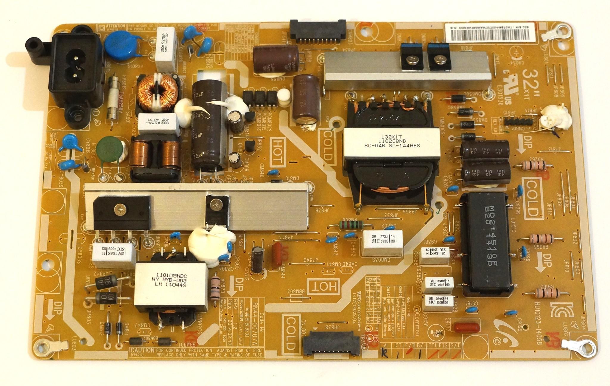 BN44-00707A model L32X1T_EHS REV 1.2 блок питания телевизора Samsung