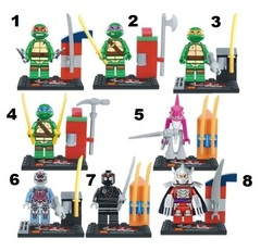 Minifigures Mutant Ninja Turtles Blocks Building Series 01
