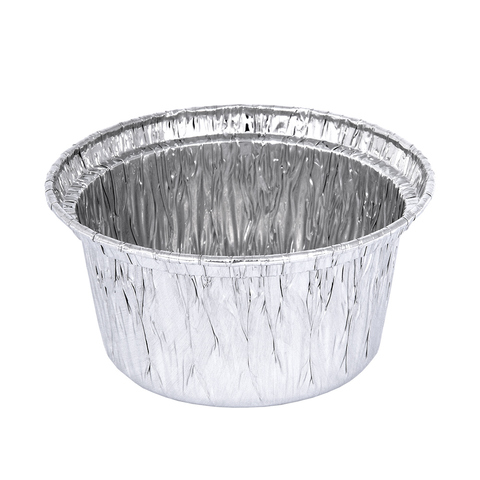 Форма из алюминия (10 шт) круглая 7,5х3,8 см, для выпечки