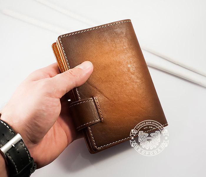 BY11-01-01 Вместительная кожаная обложка для паспорта и документов фото 03