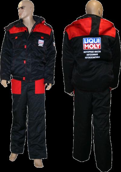 Куртка зимняя (красно-черная)