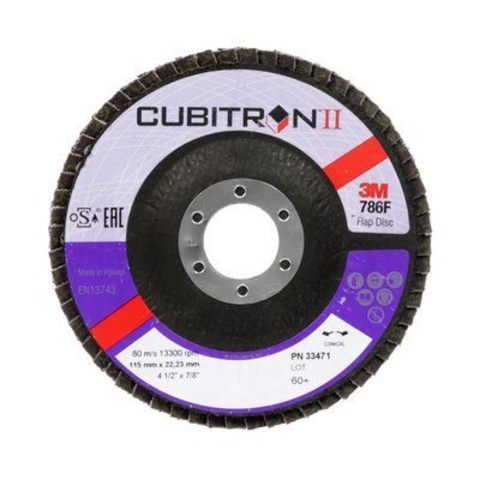 3М Лепестковый круг Cubitron II абразивный фибровый Р40 115мм х 22мм  33470