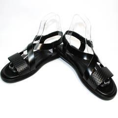 Модные мужские босоножки Roberto Verbano 74609 Black.