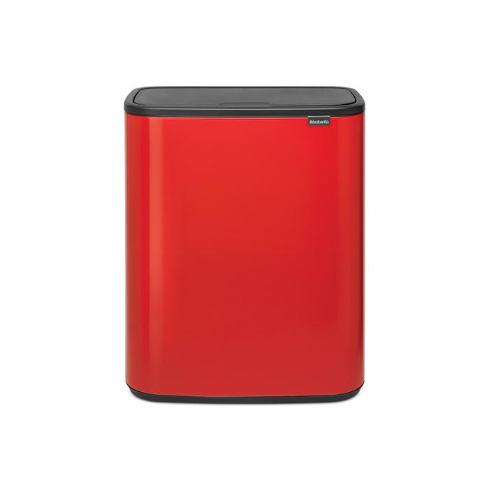 Мусорный бак Touch Bin Bo (60 л), Пламенно-красный, арт. 223044 - фото 1