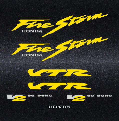 Набор виниловых наклеек на мотоцикл HONDA VTR 1000F FIRESTORM 1997