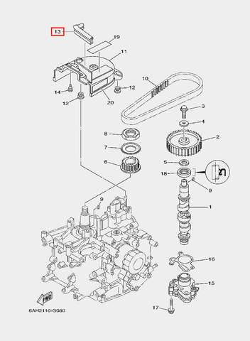Бампер для лодочного мотора F20 Sea-PRO (8-13)