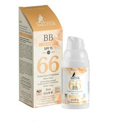 Sativa Крем ухаживающий солнцезащитный с тонирующим эффектом №66 Sand Beige, 30мл