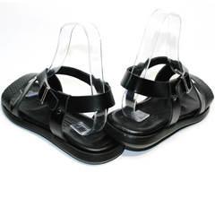 Босоножки мужские кожаные Roberto Verbano 74609 Black.