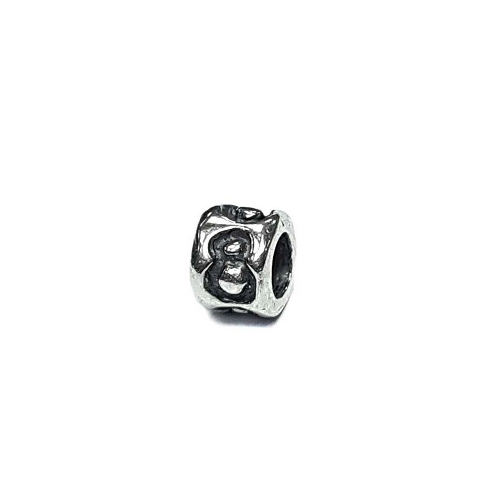 Number 8 charm, eight Sterling Silver