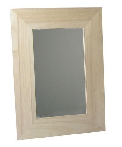 Зеркало прямоугольное в деревянной раме заготовка для рукоделия