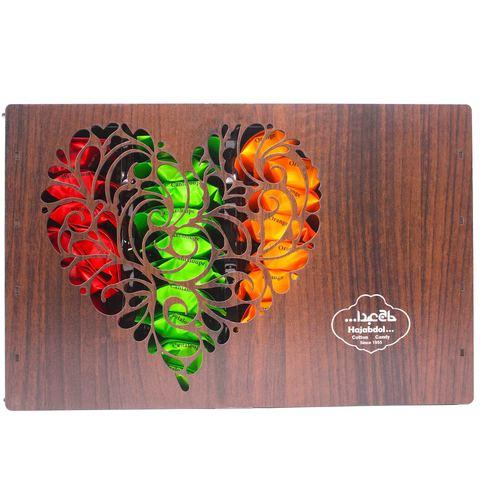 """Ассорти пишмание со вкусом дыни, клубники,апельсина, арбуза """"Сердце"""" (резное), Hajabdollah, 500 г"""