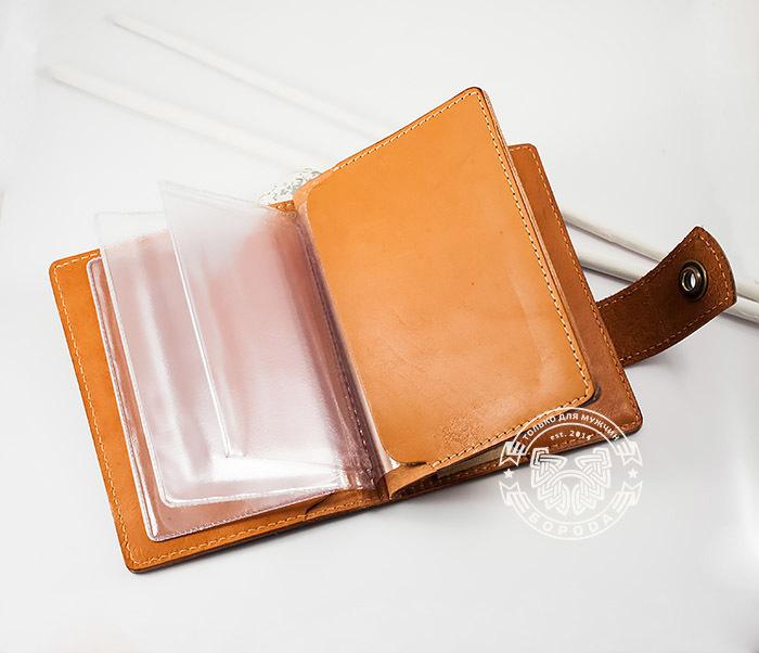 BY11-01-01 Вместительная кожаная обложка для паспорта и документов фото 05