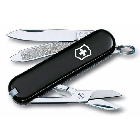 Нож перочинный Victorinox Classic (0.6223.3) 58мм 7функций черный
