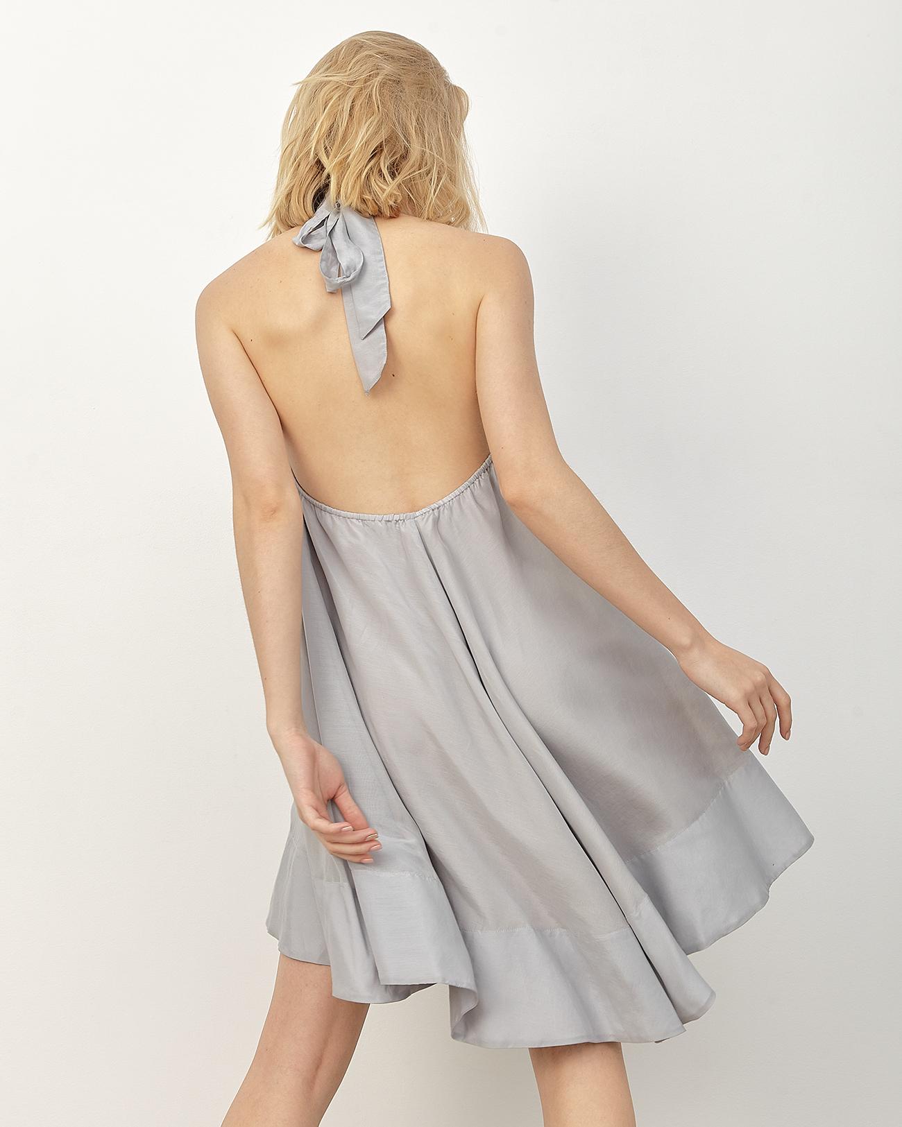 Платье-облако серого цвета фото
