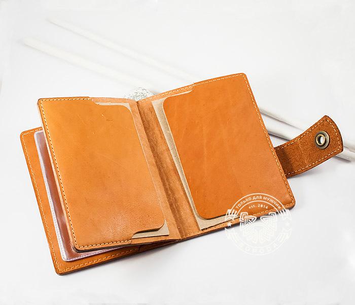 BY11-01-01 Вместительная кожаная обложка для паспорта и документов фото 06