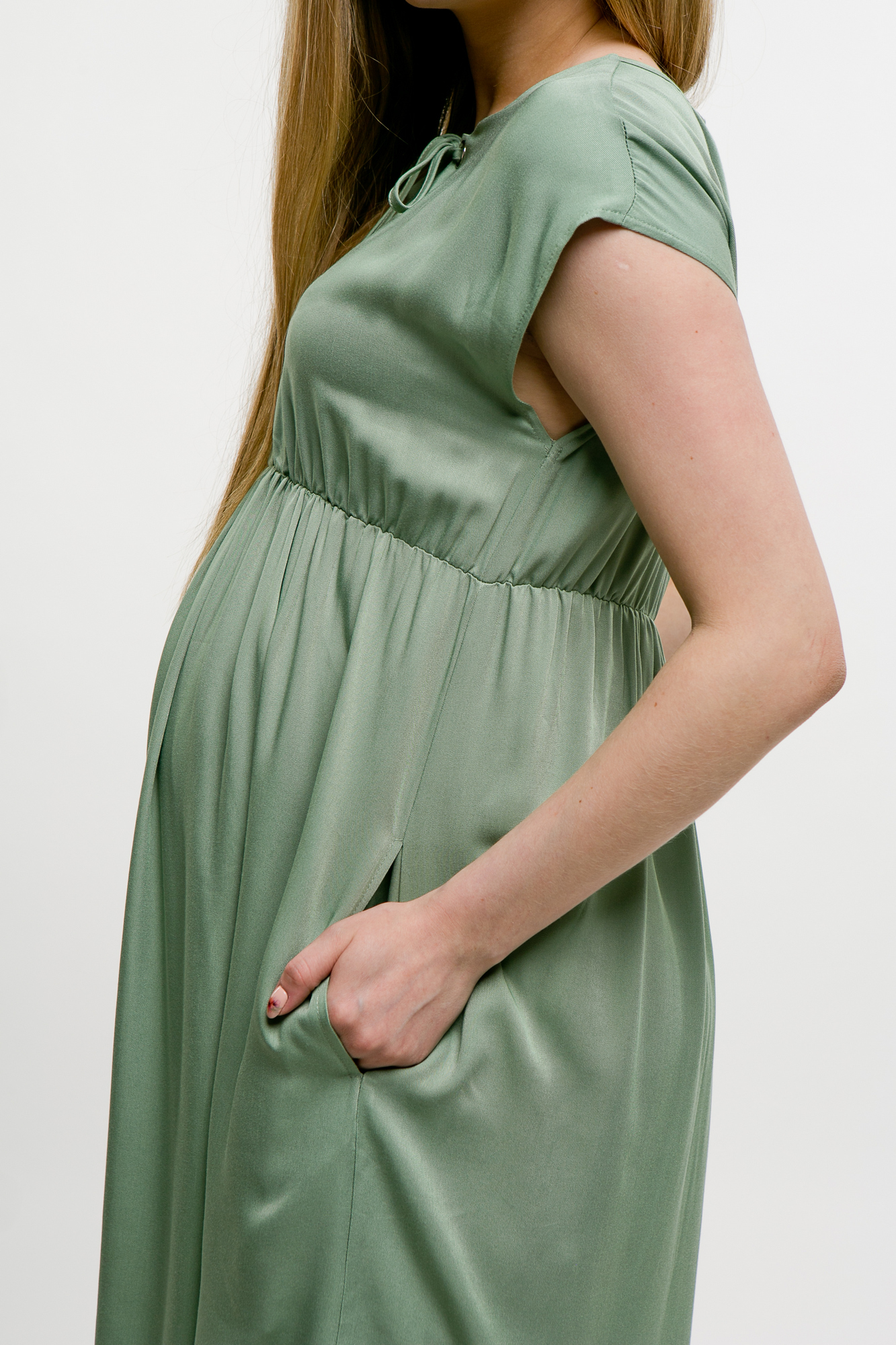 Фото платье для беременных MAMA`S FANTASY от магазина СкороМама, мятный, зеленый, размеры.