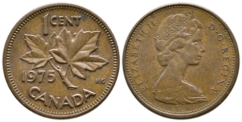 1 цент 1975 года. Канада