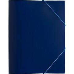 Папка на резинке Attache Economy A4 пластиковая синяя (0.45 мм, до 200 листов)