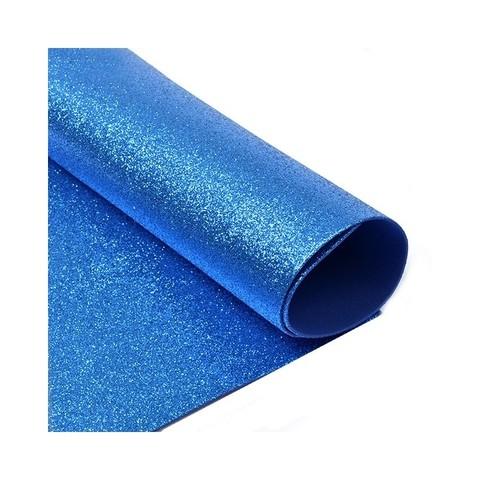 Глиттерный фоамиран. Цвет: синий