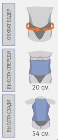 Бандаж Orliman LT-320 грудопоясничный полужесткий