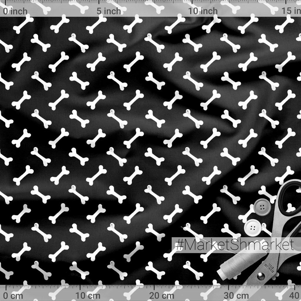 Косточки на черном фоне