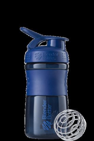 BlenderBottle SportMixer, Универсальная Спортивная бутылка-шейкер с венчиком.  Navy-неви 591 мл
