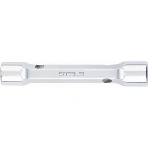 Ключ трубка торцевой усиленный, 17 х 19 мм, CrV Stels