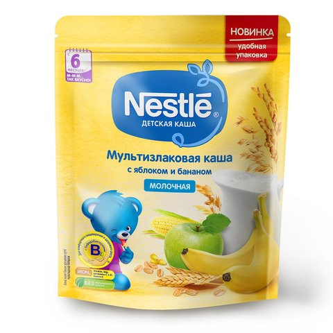 "Каша молочная ""Nestle"" яблоко, банан 200г"