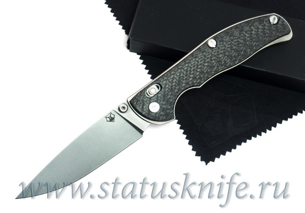 Нож Широгоров Табарган 100NS S90V CF 3D карбон