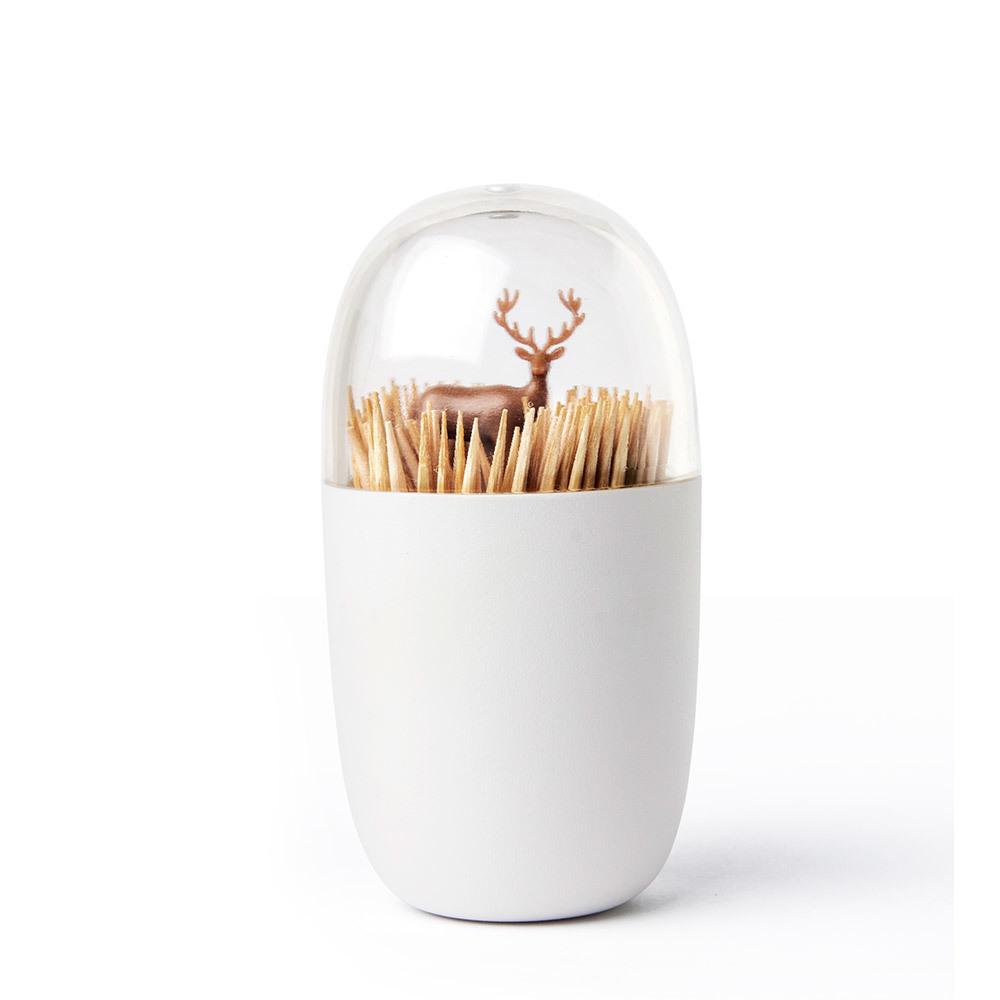 Подставка для зубочисток Deer meadow Qualy QL10212-BN | Купить в Москве, СПб и с доставкой по всей России | Интернет магазин www.Kitchen-Devices.ru