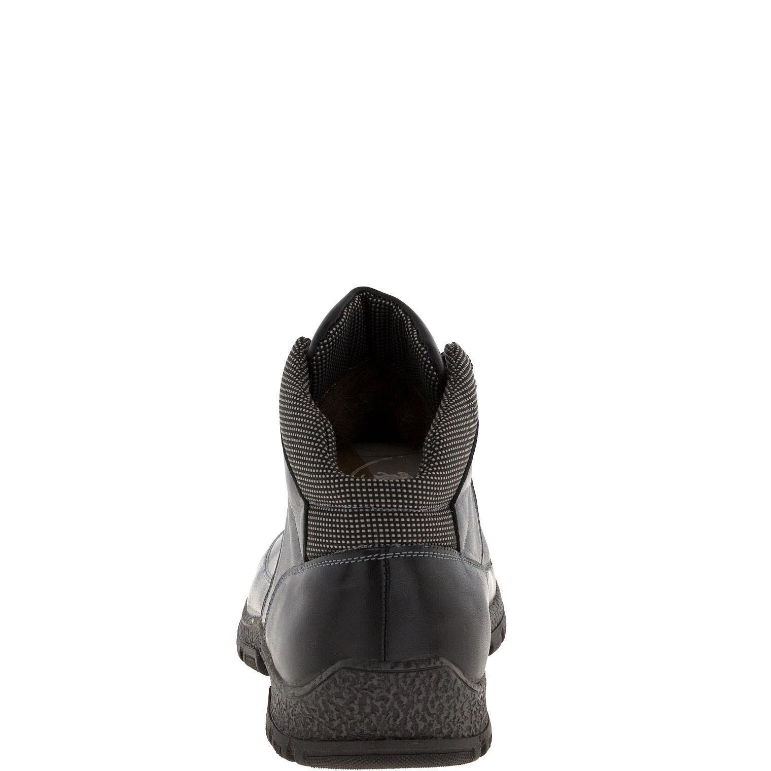 636316 Ботинки мужские ченые кожа больших размеров марки Делфино