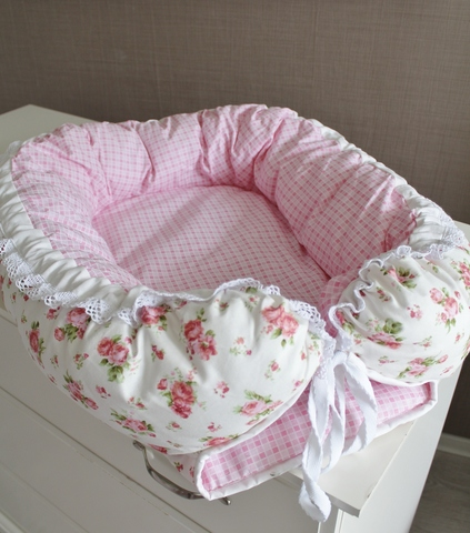 Babynest, гнездышко, кокон для младенца - розы