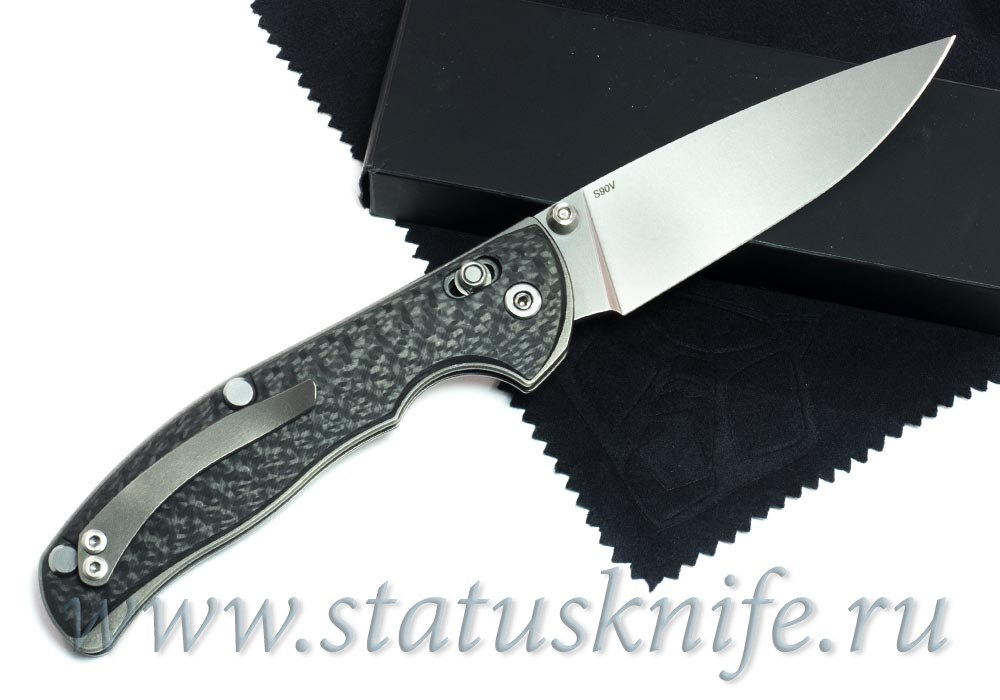 Нож Широгоров Табарган 100NS S90V CF 3D карбон - фотография