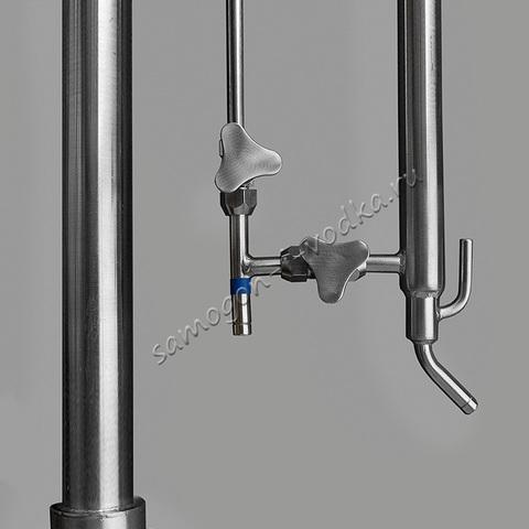Дистиллятор с укреплением (пленочная колонна) 3000ПК-ИД, кламп 2