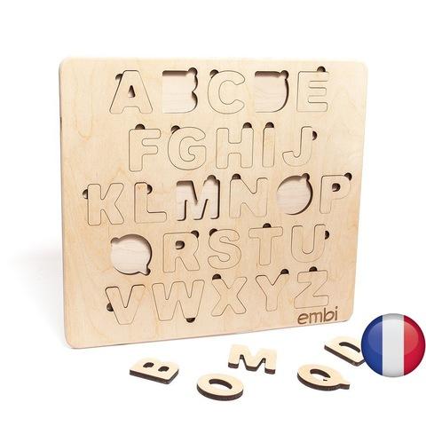 Деревянная азбука французский язык (размер макси)