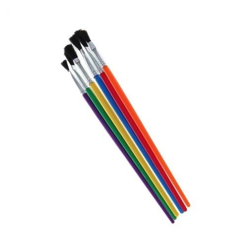 062-9289 Кисть Пони №2 (оформительская) с пластиковой цветной ручкой
