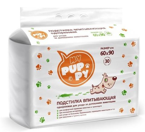Petmil My Puppy Пеленка-туалет 30 шт подстилка впитывающая 60x90см