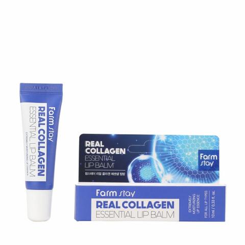 Суперувладняющий бальзам для губ с коллагеном Farm Stay Real Collagen Essential Lip Balzam