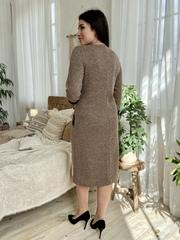 Камелия. Красивое женское платье больших размеров. Мокко