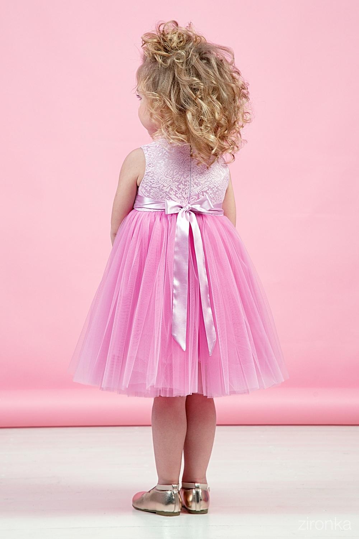 Платье розовое для девочки 38-9005-2